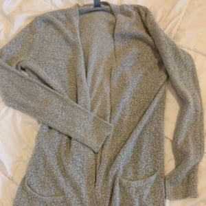 Heather Gray Old Navy Long Cardigan with Pockets